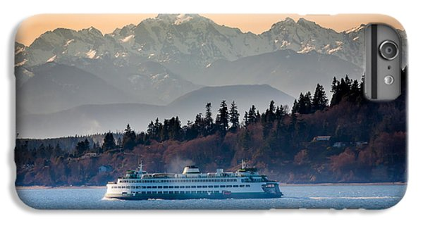 Mountain iPhone 8 Plus Case - State Ferry And The Olympics by Inge Johnsson