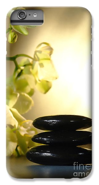 Orchid iPhone 8 Plus Case - Stone Cairn And Orchids by Olivier Le Queinec