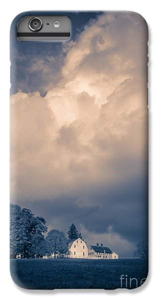 New England Barn iPhone 8 Plus Case - Storm Coming To The Old Farm by Edward Fielding
