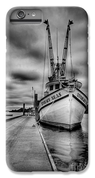 Shrimp Boats iPhone 8 Plus Case - Stormy Seas by Matthew Trudeau
