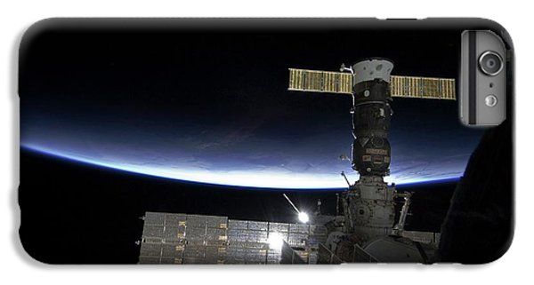 International Space Station iPhone 8 Plus Case - Sunrise Over The Iss by Nasa/science Photo Library
