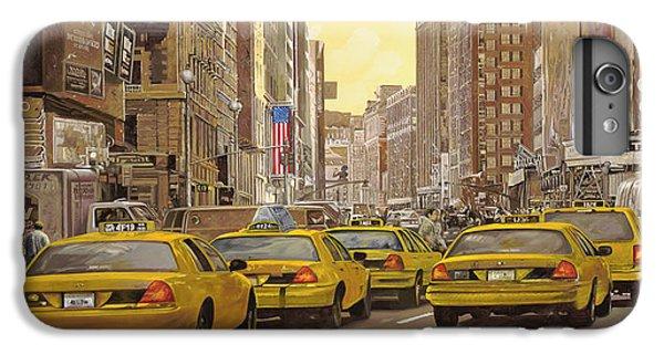 City Scenes iPhone 8 Plus Case - taxi a New York by Guido Borelli
