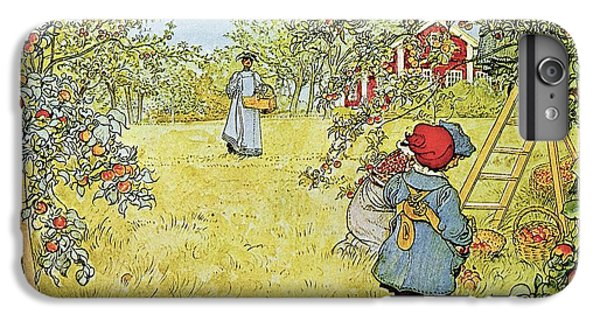 Rural Scenes iPhone 8 Plus Case - The Apple Harvest by Carl Larsson