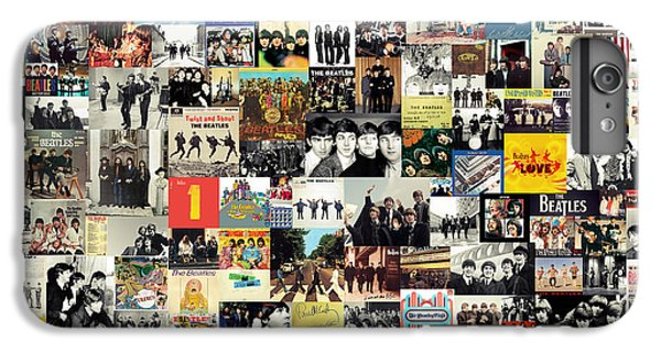 Rock And Roll iPhone 8 Plus Case - The Beatles Collage by Zapista