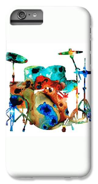Drum iPhone 8 Plus Case - The Drums - Music Art By Sharon Cummings by Sharon Cummings