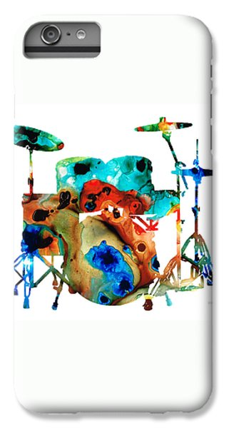 Rock And Roll iPhone 8 Plus Case - The Drums - Music Art By Sharon Cummings by Sharon Cummings