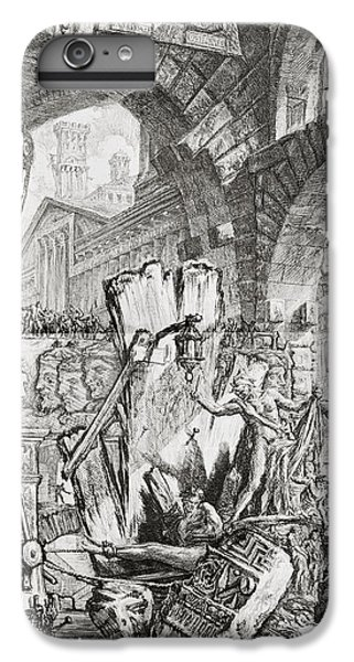 Dungeon iPhone 8 Plus Case - The Man On The Rack Plate II From Carceri D'invenzione by Giovanni Battista Piranesi