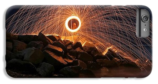 iPhone 8 Plus Case - This Is A Shot Of Me Spinning Burning by Larry Marshall