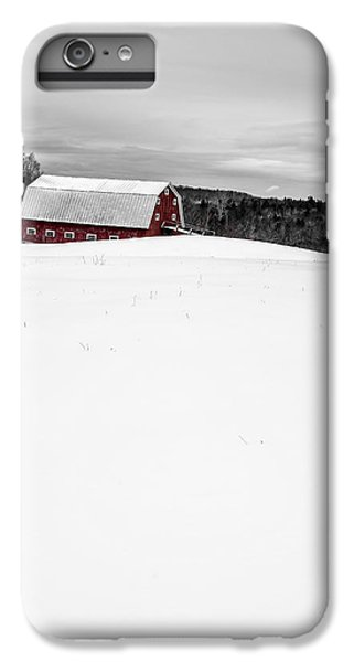 New England Barn iPhone 8 Plus Case - Under A Blanket Of Snow Christmas On The Farm by Edward Fielding