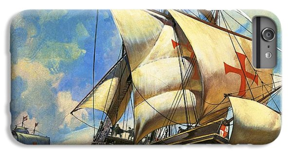 Cross iPhone 8 Plus Case - Unidentified Sailing Ships by Andrew Howat