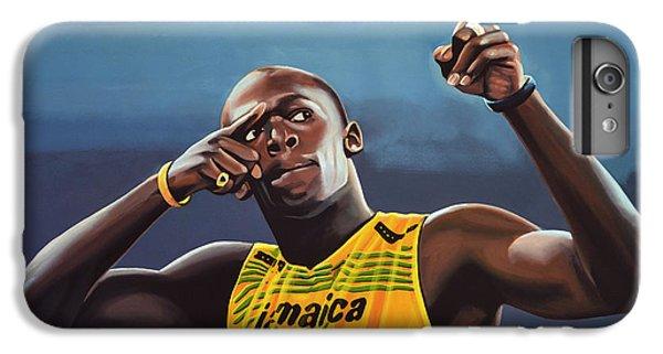 Portraits iPhone 8 Plus Case - Usain Bolt Painting by Paul Meijering