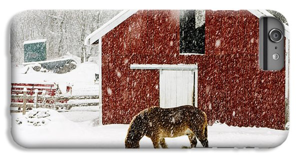 New England Barn iPhone 8 Plus Case - Vermont Christmas Eve Snowstorm by Edward Fielding