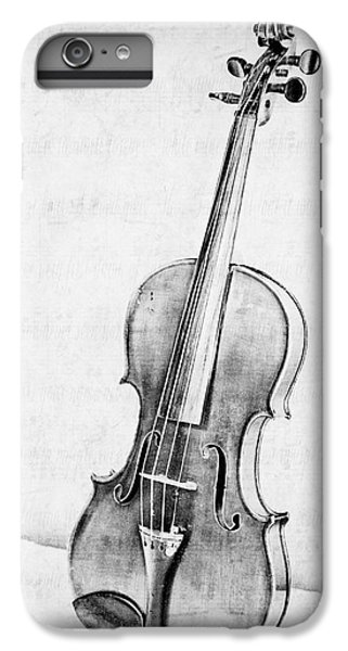 Violin iPhone 8 Plus Case - Violin In Black And White by Emily Kay