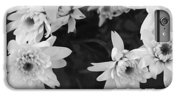 Daisy iPhone 8 Plus Case - White Flowers- Black And White Photography by Linda Woods