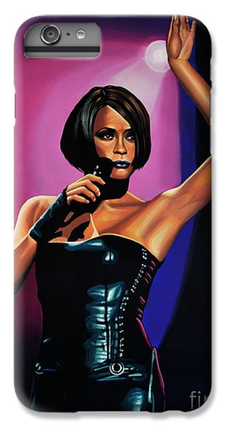 Rhythm And Blues iPhone 8 Plus Case - Whitney Houston On Stage by Paul Meijering