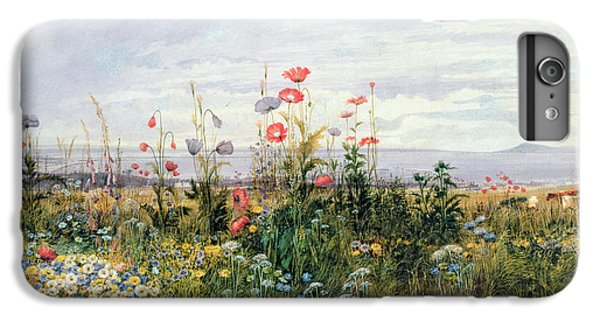 Garden iPhone 8 Plus Case - Wildflowers With A View Of Dublin Dunleary by A Nicholl