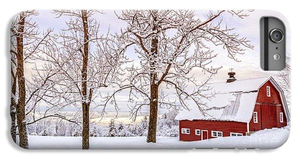 New England Barn iPhone 8 Plus Case - Winter Arrives by Edward Fielding