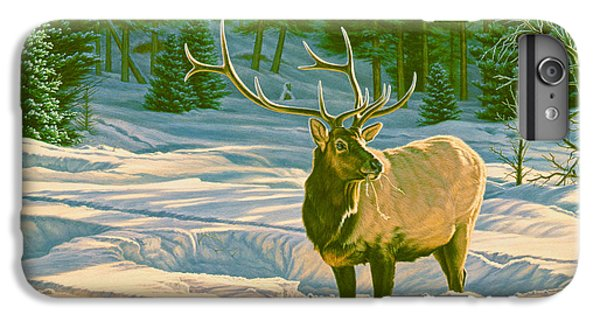Bull iPhone 8 Plus Case - Winter Forage - Elk by Paul Krapf