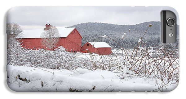 New England Barn iPhone 8 Plus Case - Winter In Connecticut by Bill Wakeley