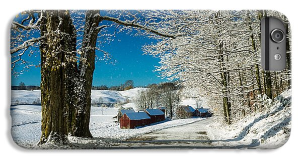 New England Barn iPhone 8 Plus Case - Winter In Vermont by Edward Fielding