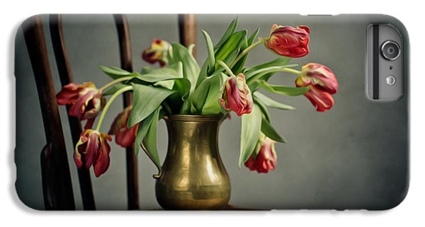 Tulip iPhone 8 Plus Case - Withered Tulips by Nailia Schwarz