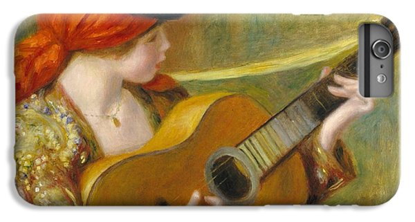 Guitar iPhone 8 Plus Case - Young Spanish Woman With A Guitar by Pierre Auguste Renoir