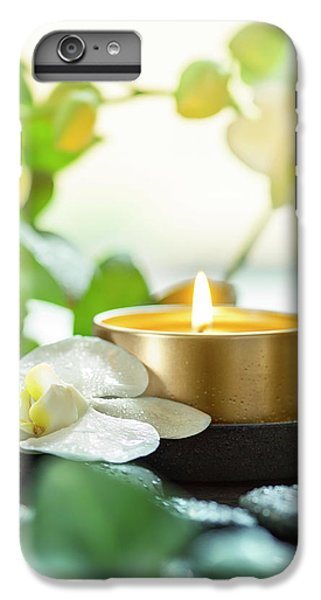 Orchid iPhone 8 Plus Case - Zen Orchid And Candle by #name?
