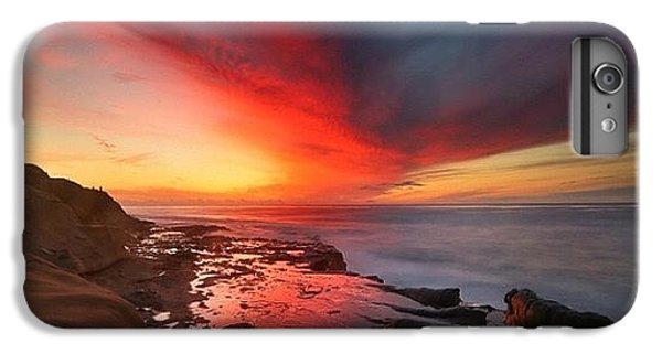 iPhone 8 Plus Case - Long Exposure Sunset In La Jolla by Larry Marshall