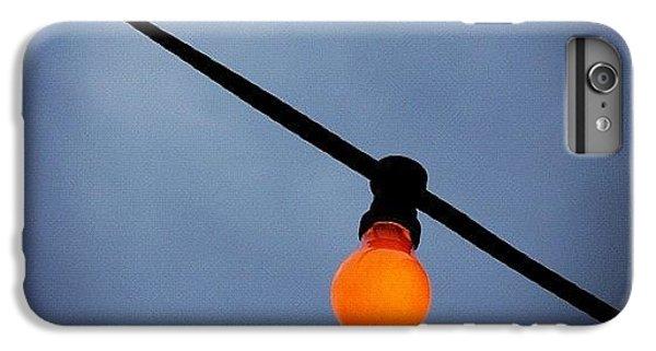 iPhone 8 Plus Case - Orange Light Bulb by Matthias Hauser