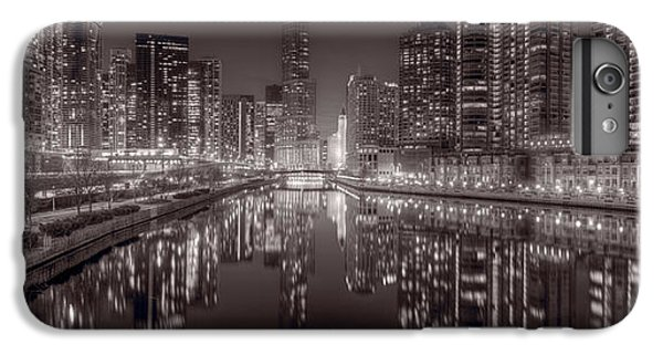 Chicago River iPhone 8 Plus Case - Chicago River East Bw by Steve Gadomski