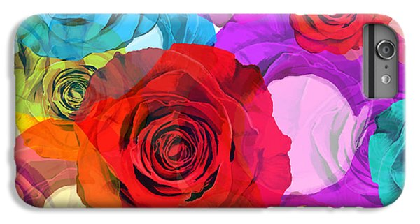 Rose iPhone 8 Plus Case - Colorful Floral Design  by Setsiri Silapasuwanchai