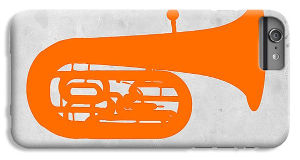 Trombone iPhone 8 Plus Case - Orange Tuba by Naxart Studio