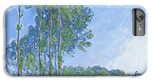 Impressionism iPhone 8 Plus Case - Poplars by Claude Monet
