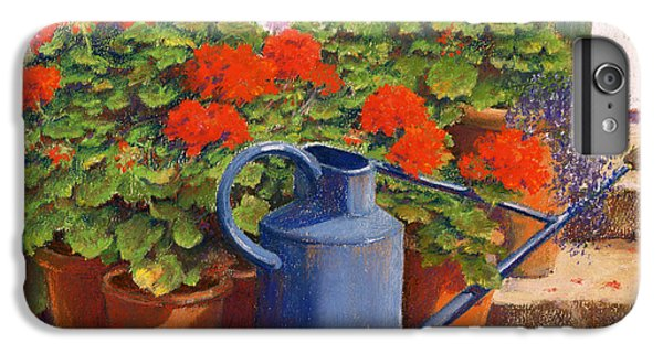 Garden iPhone 8 Plus Case - The Blue Watering Can by Anthony Rule