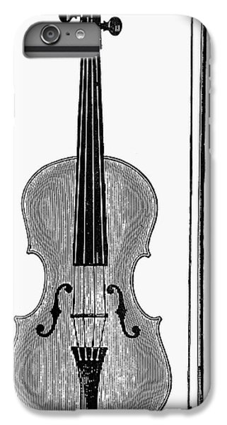 Violin iPhone 8 Plus Case - Violin And Bow by Granger