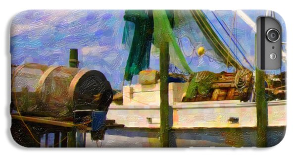 Shrimp Boats iPhone 8 Plus Case - Watching Within A Frame by Betsy Knapp