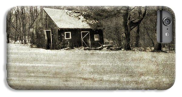 New England Barn iPhone 8 Plus Case - Winter Textures by Evelina Kremsdorf