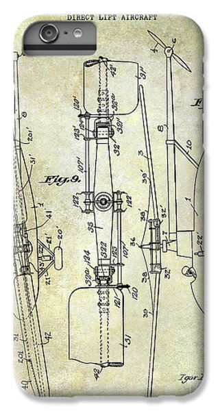 Helicopter iPhone 8 Plus Case - 1935 Helicopter Patent  by Jon Neidert