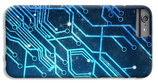 Contemporary iPhone 8 Plus Case - Circuit Board Technology by Setsiri Silapasuwanchai