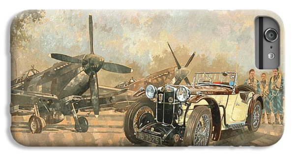 Car iPhone 8 Plus Case - Cream Cracker Mg 4 Spitfires  by Peter Miller