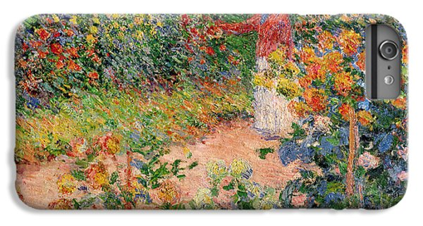 Impressionism iPhone 8 Plus Case - Garden At Giverny by Claude Monet
