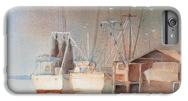 Shrimp Boats iPhone 8 Plus Case - Morning In St. Marys by Robert Yonke