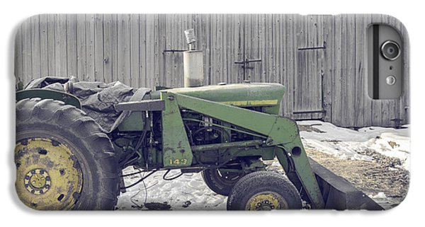 New England Barn iPhone 8 Plus Case - Old Tractor By The Grey Barn by Edward Fielding