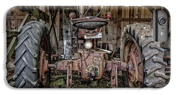 New England Barn iPhone 8 Plus Case - Old Tractor In The Barn by Edward Fielding