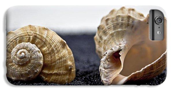 Sand iPhone 8 Plus Case - Seashells On Black Sand by Joana Kruse
