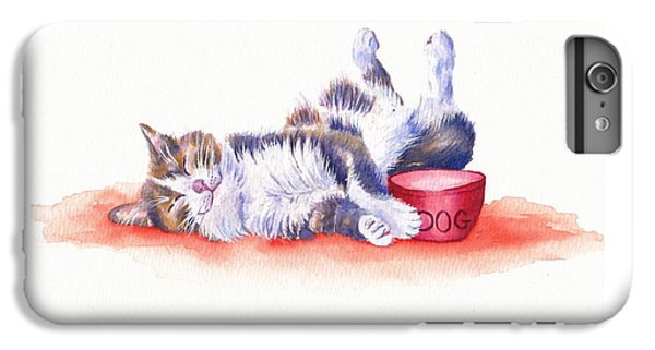 Cat iPhone 8 Plus Case - Stolen Lunch by Debra Hall