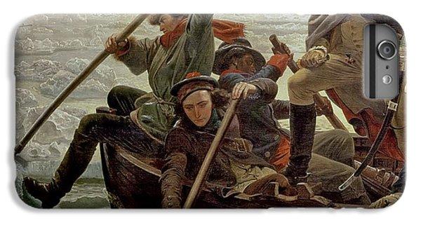 Boat iPhone 8 Plus Case - Washington Crossing The Delaware River by Emanuel Gottlieb Leutze