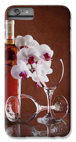 Orchid iPhone 8 Plus Case - Wine And Orchids Still Life by Tom Mc Nemar