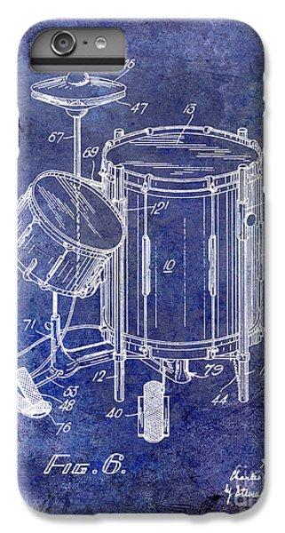 Drum iPhone 8 Plus Case - 1951 Drum Kit Patent Blue by Jon Neidert