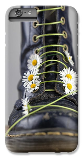Daisy iPhone 8 Plus Case - Boots With Daisy Flowers by Nailia Schwarz